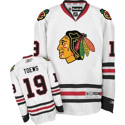 Adult Premier Chicago Blackhawks Jonathan Toews White Away Official Reebok Jersey