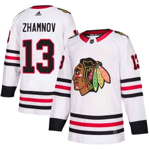 Youth Authentic Chicago Blackhawks Alex Zhamnov White Away Official Adidas Jersey