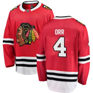 Youth Breakaway Chicago Blackhawks Bobby Orr Red Home Official Fanatics Branded Jersey